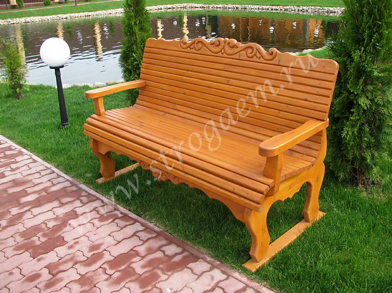 Деревянные скамейки и лавки