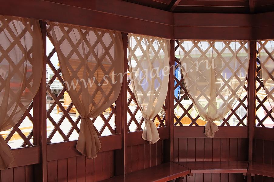 Как сшить шторы для беседки своими руками с фото